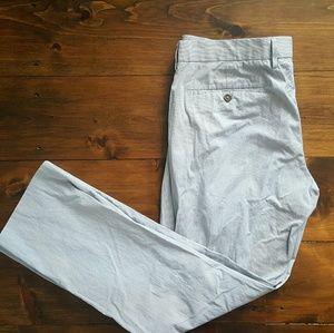 J.Crew Micro Stripe Cotton Pants 34 x 32 Classic